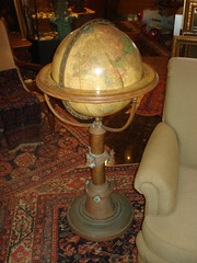 "BIG 15-INCH JOSLIN TERRESTRIAL GLOBE ON COPPER STAND, C. 1900. • <a style=""font-size:0.8em;"" href=""http://www.flickr.com/photos/51721355@N02/4757988205/"" target=""_blank"">View on Flickr</a>"
