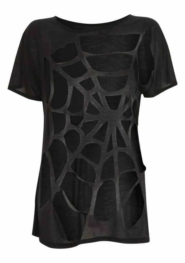 topshop fall 2010 spider cut out tee