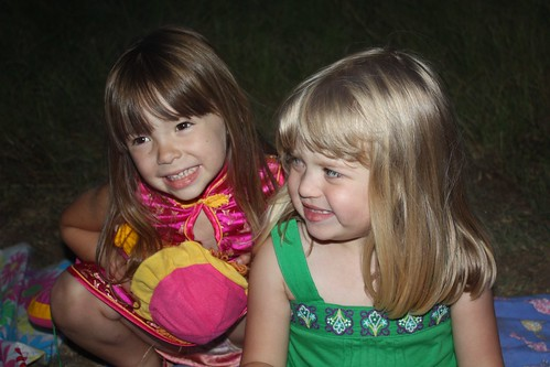 Elizabeth & Catie, ready to see the fireworks on the 4th of July