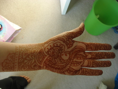 henna after