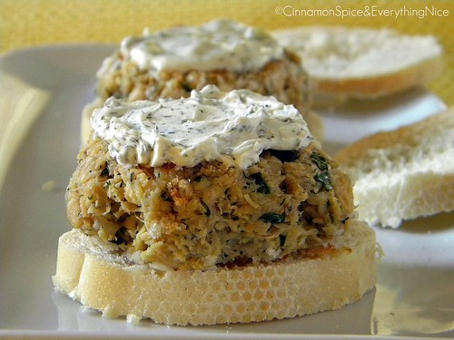 Salmon Sliders with Lemon Dill Cream Cheese