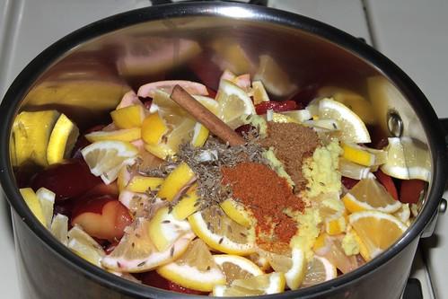 Plum Chutney ingredients