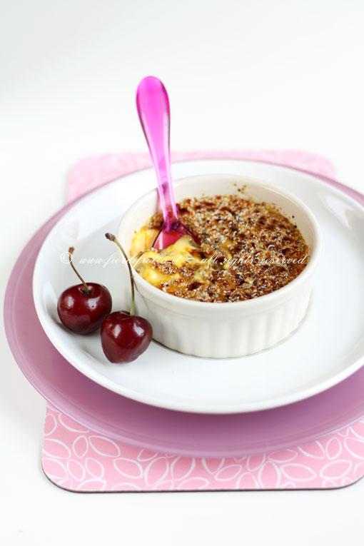Crema cotta alle ciliegie e cioccolato