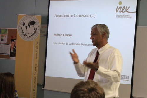 Milton Clarke, Professor and former UN Consultant introducing his course