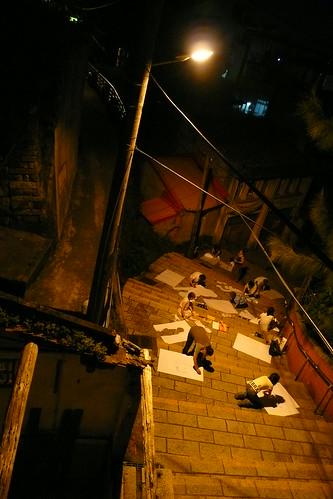 夜拍重建街活動