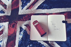 LondonLove (StellaDeLMattino) Tags: trip travel england stilllife london fashion notebook nikon holidays dress notes telephone journey sequins countdown unionjack londra 34 telephonebox telephonebooth paillettes telephonekiosk d5000 telephonecallbox