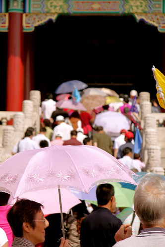 umbrellas, forbidden city