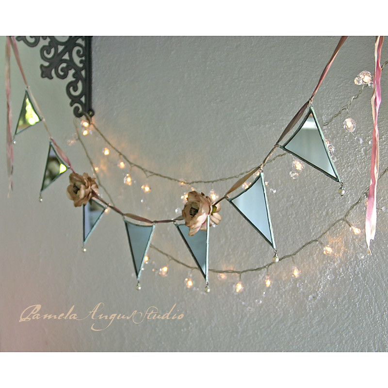 coast - a mirrored ooak bunting or garland