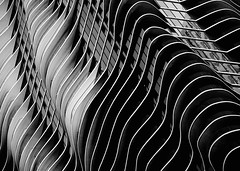 Aqua Tower Abstraction. B&W edition (terry_usa) Tags: chicago abstraction aquatower