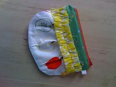 ruffle pouch