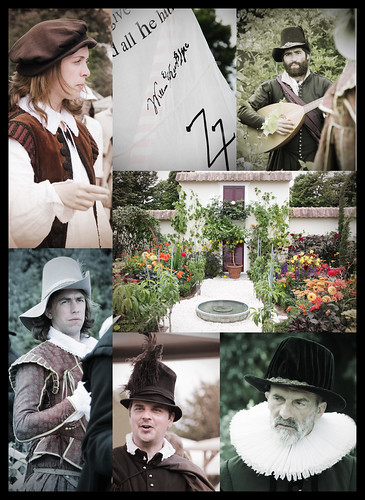 Shakespearen actors in the garden