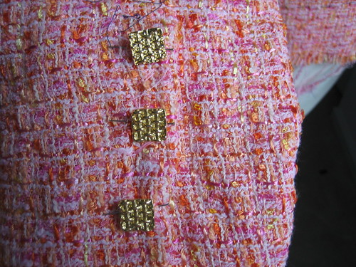 Nashville Chanel buttons with fabric