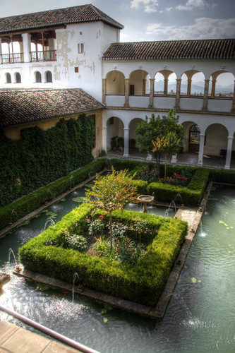 Patio del ciprés de la sultana. Generalife. Alhambra.