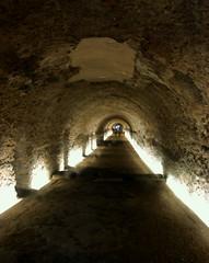 Unterirdische Gänge der Tempel und Circus-Anlage aus römischen Zeiten, Tarragona, Katalonien