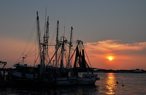 Sunset at Singleton's Seafood Shack, Mayport, Florida