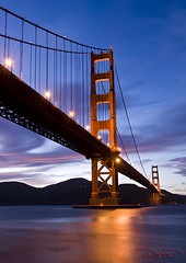 Golden Gate Bridge - San Francisco, California from Fort Point [Explored] (DiGitALGoLD) Tags: california bridge night point golden site nikon gate san francisco long exposure shot suspension fort historic national f28 d3 2470mm