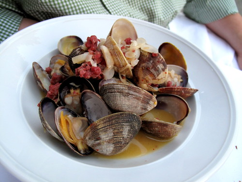 Clams with Chorizo at DOC