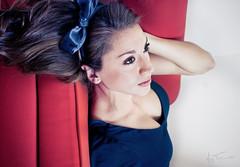 Vanity (Moy Triana) Tags: light portrait flower girl beautiful beauty up fashion vintage hair studio ana model close young bow editorial cris triana moy najera moytriana anacristinanajera