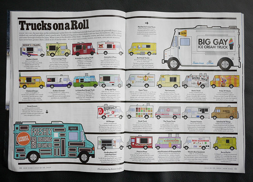 New York Magazine Trucks on a Roll