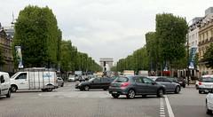 Auf der Champs Elysees, Paris