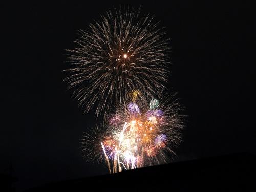 一足早い花火大会『野口保食神社夏祭り』@大和高田市