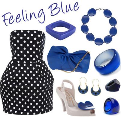 Polyvore: Feeling Blue