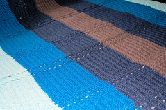 Cables on the Horizon Crochet Blanket by Knot By Gran'ma