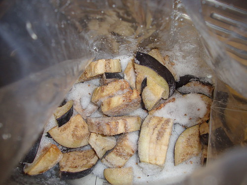 frozen eggplant chunks