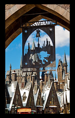 Hogsmeade: Please Respect The Spell Limits (Scott Smith (SRisonS)) Tags: castle sign metal orlando village florida resort universal archway studios hogwarts islandsofadventure hogsmeade butterbeer alangilmore wizardingworldofharrypotter wwohp