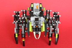Lego Technic Spider (arcanemettles) Tags: red black robot spider power lego arachnid technic walker theo lime functions jansen moc