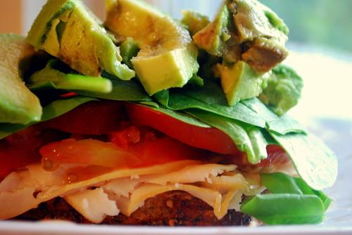 Overstuffed Sandwich - Side View