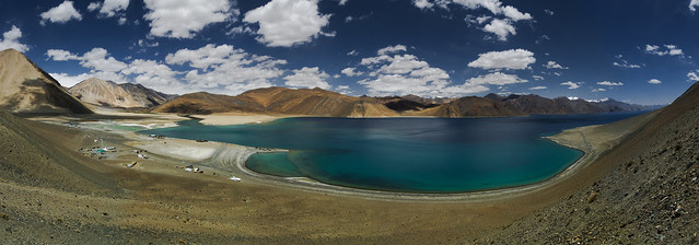 Pangong Lake panorama