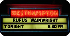 Marquee for Rufus Wainwright