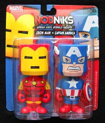 new discovery-NODNIKS! (tomo_moko) Tags: urban head vinyl ironman captainamerica bobble nodnik