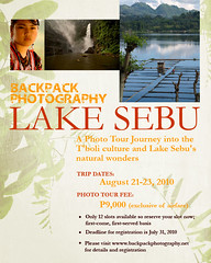 Backpack Photography Lake Sebu