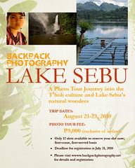 Backpack Photography Lake Sebu