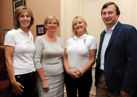 Vickey Smyth, Barbara Vander -Werf, Anna Carlos and Frans Vander-Werf at the Des Smyth Drogheda Youth Foundation Barbeque in th Boyne Valley Hotel