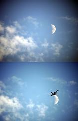 Crescente surpresa (Maga Dias) Tags: moon mood bluesky lua maga abigfave crescentsurpresa