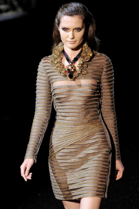 Basil Soda FW2010 collection zipper evening gown dress 11