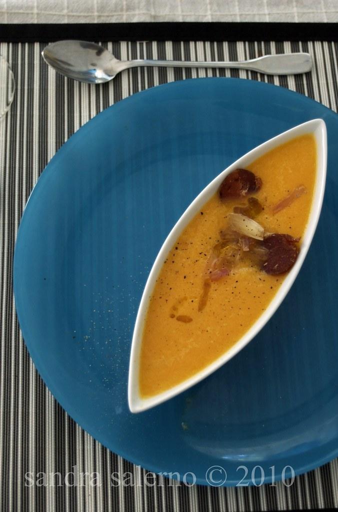 Zuppa di melone e olio e.v.di oliva Il Brolo