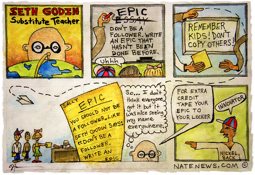 Seth Godin: Substitute Teacher (comic)
