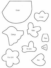 Móbile 1 (Luciana de Campos) Tags: galinhas riscos moldes aplicação patchcolagem
