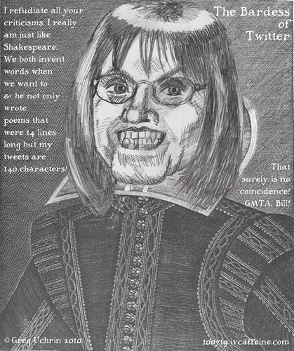 Sarah Palin--Poetry in 140 Characters or Less--The William Shakespeare of Our Times