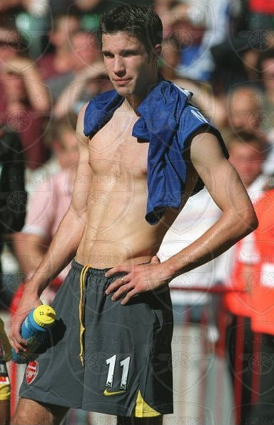 Robin van Persie shirtless