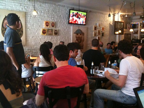 Watching the World Cup game at DOMA