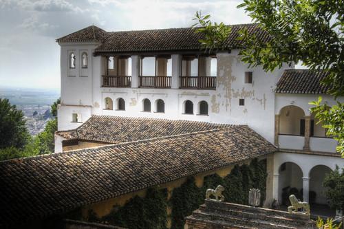 Generalife palace. Alhambra. Palacio del Generalife.