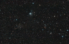 NGC 7129 & NGC 7142 (zAmb0ni) Tags: sky night canon stars ngc telescope galaxy nebula astronomy celestron 7129 7142 450d astrophogotraphy