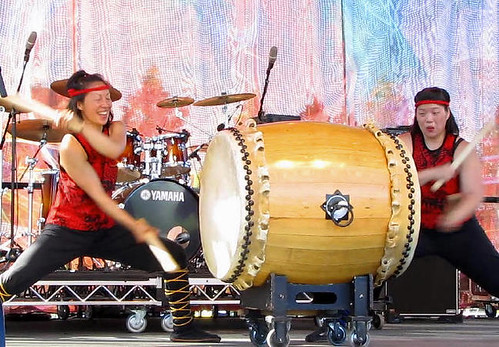 Ancient Asia Drumming by Uzume Taiko, Surrey Fusion Festival 2010 Multicultural and Diversity Celebration in Greater Vancouver