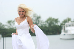 Silly (Gordana AM) Tags: blue wedding portrait woman white lake ontario canada water girl fashion hair square outside outdoors island bride clothing swan long alone photoshoot availablelight walk jennifer side profile blues style location clothes blonde windsor romantic session trend gown elegant bridal float onlocation freelance fearless amherstburg styled bablo trashthedress class2010 lepiafgeo