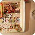 How to make a big inspiration board using a vintage frame